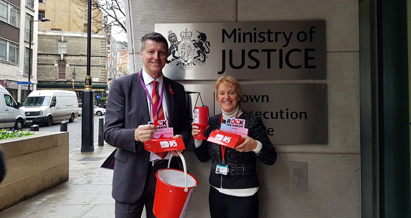Barry Snelgrove, FDA Convenor in the MoJ (left) and Jackie Green, PCS National Vice President and MoJ DTUS Co-Chair (right)